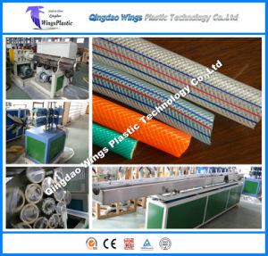 プラスチックPVCファイバーのホース機械、PVCは機械装置を作るホースを補強した