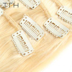 Верхнюю часть волос моды 14161820222426машины в Сен Реми волосы 8ПК установите фиксаторы в области расширения волос полный комплект головки блока цилиндров русые №613 Цвет прямые волосы