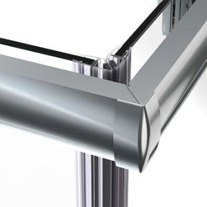 Sally 6mm cromado luz duplo de alumínio vidro corrediço da abertura da porta do chuveiro com vidro temperado de vidro de segurança