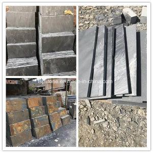 루핑 또는 Roof//Flooring/Floor/Wall 클래딩 도와 문화 돌 슬레이트 포장하기를 위한 자연적인 돌 까맣거나 녹색 또는 파랗고 또는 노랗고 또는 녹스는 또는 백색 슬레이트