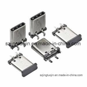 Tipo de Soldadura SMD de 3pin 3.1 Vertical USB Conector hembra tipo C