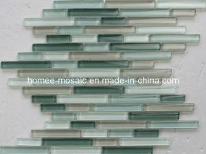Bullet linéaire Crystal Wall Tile en mosaïque de verre