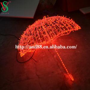 Weihnachten über Dekoration-Motiv der Straßen-LED beleuchtet Regenschirm 3D