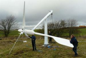 Het vrije Systeem van de Energie van de Wind voor Huis of het Gebruik van het Landbouwbedrijf