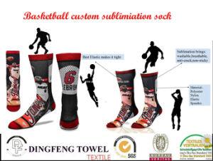 De nieuwe Manier past de Afgedrukte Sok van de Knie van het Basketbal aan