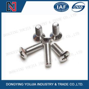 La norme ISO7047 Croix encastré en acier inoxydable soulevées vis à tête fraisée