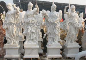 Het snijden van het Antieke Standbeeld van de Steen van de Tuin met het Beeldhouwwerk Van de vier seizoenen (sy-X1703)