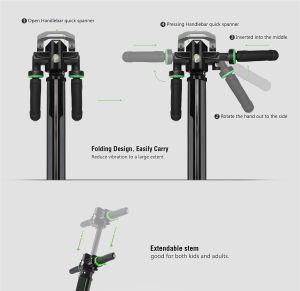 2017 neuer 2 faltbarer elektrischer Roller des Rad-36V für Erwachsenen und Kind