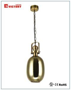 Современный интерьер золотой стекло люстра с маркировкой CE утверждения