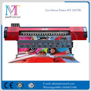 doppia Eco stampante di getto di inchiostro solvibile laterale della stampante di 1.8m Dx7