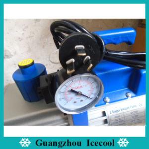 doppelte Vakuumpumpe Vp2100 des Stadiums-1HP mit Anzeigeinstrument und Ventil für R410A/R407c