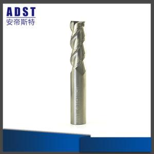 CNCの炭化物2のフルートの鋼鉄端の製粉カッターのためのまっすぐなすねの端製造所