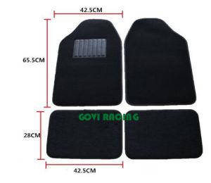 4PCS/Set Tapijt van de Matten van de auto het Zwarte Rubber met pvc voor SUV