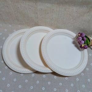 Hot Sale et jetables vaisselle biodégradable, gâteau de la plaque plaque, plaque ronde