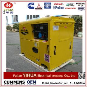 이동할 수 있는 휴대용 침묵하는 공기에 의하여 냉각되는 5kVA/4kw 6kVA 4kVA 디젤 발전기