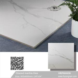 Tegel van de Vloer van het Porselein van Carara van de keuken de Witte Verglaasde Marmer Opgepoetste (VRP6H039, 600X600mm)