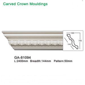 Espuma de poliuretano PU Cornija Interior decorativos esculpidos Crown Molding