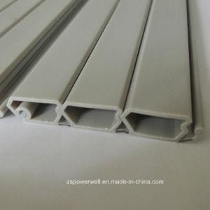 Profili grigi del PVC del portello della saracinesca della coestrusione dura molle di plastica