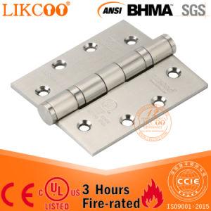 Dobradiça de porta ANSI de aço sem revestimento de 4 polegadas com CE e. UL com resistência ao fogo (SSA002)