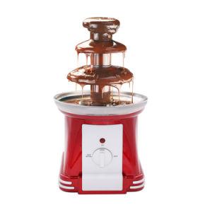 Retro mini macchina elettrica della fontana della fonduta di cioccolato delle 3 file