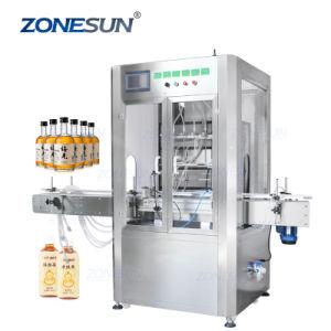 6 cabezales Zonesun bomba magnética Eliquid automático de llenado de productos cosméticos de Whisky de plástico de botellas de jugo de Jar de máquinas de llenado de líquido Perfume