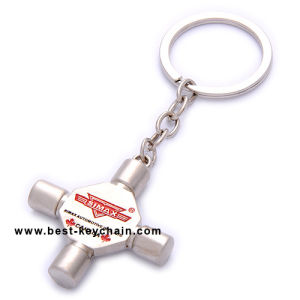 주문 금속 승진 범용 이음쇠 Keychain/Keyring/Key 홀더 (BK11352)