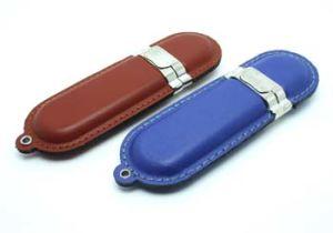 Флэш-накопитель USB из натуральной кожи, кожаная сумка карты памяти USB (Сюй-603)