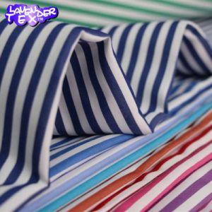 Chemise uniforme en maille textile rayée 60 coton 40 polyester Tissu