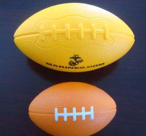 Esfera do esforço da forma do futebol para a promoção