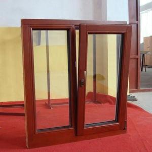 아르곤 가스 낮은 E 강화 유리 알루미늄 클래딩 나무 Windows
