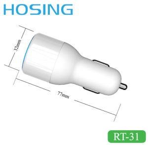 Светодиодный дисплей с двумя зарядное устройство USB 4.8A автомобиля зарядное устройство 5 в