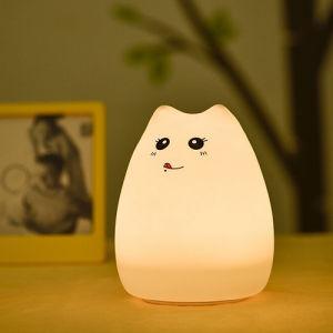 Cute Kitty Noche de Luz LED para niños