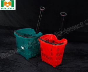 Supermarkt-Plastikeinkaufskorb-bequemer Einkaufskorb