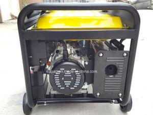 5.0 Kw arranque eléctrico portátil tipo P generador de gasolina con cuatro ruedas