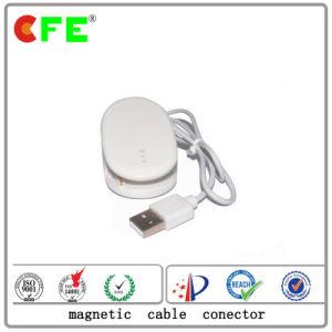防犯ゲートのためのUSBケーブルが付いている白い4pin磁気コネクター