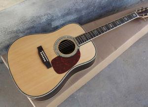 La parte superior sólida D45 de 41 pulgadas de Guitarra Acústica guitarra eléctrica acústica Dreadnought cuerpo Chartin Guitarra eléctrica Fretboard Guitarra Classial ébano