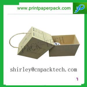 주문을 받아서 만들어진 Kraft 종이 장방형 모양 선물 포장 상자