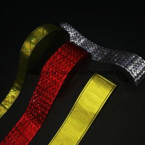 Es8500 0.38mm 5cm de largeur d'épaisseur de couleur différente Ruban en PVC réfléchissant sur le gilet de sécurité de couture