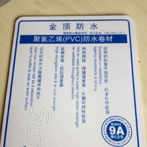 Het anti UV Waterdichte Membraan van pvc