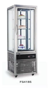 Congelatore di vetro della cucina della vetrina dei Quattro-Lati per Supermarkt