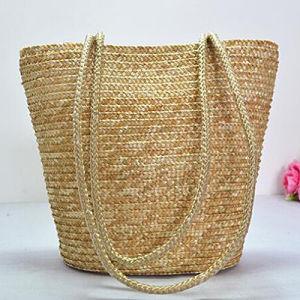 Fashion barato sacos de palha da caçamba grossista Lady Bolsas