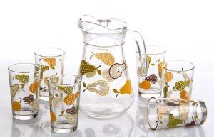 ガラス一定シリーズガラス茶水飲むセット