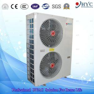 ヒートポンプの給湯装置に水をまく極度の低温の空気
