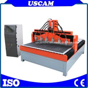 Router di macinazione di legno di CNC con 6 assi di rotazione che funzionano insieme
