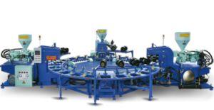 Три цветных ПВХ верхний/ единственной/ газа литьевой машины зерноочистки
