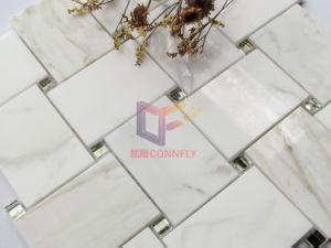 Mix de Espelho Calacatta Gold tricotado em mármore com mosaicos de estilo (CFS1198)