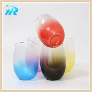 Stemless plástico 450ml copo de vinho de vidro de cerveja