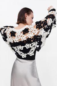 Les femmes chute col rond de l'épaule de vêtements de mode par crochet