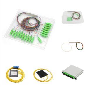1X8 оптическое волокно стальной трубы типа PLC разветвителя с разъемом