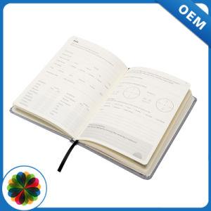 prix d'usine A5 de toile de lin à couverture rigide en aluminium argenté pour ordinateur portable de journal d'estampillage